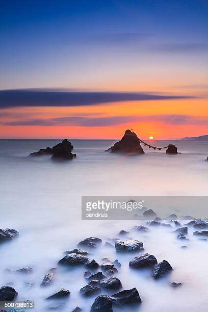 Japan, Mie Prefecture, Picture of Husband and Wife Rock