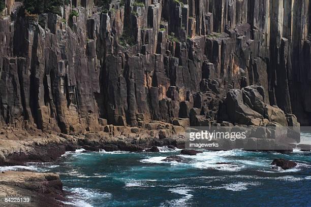 Japan, Mie Prefecture, Tategasaki, Rock formation beside sea