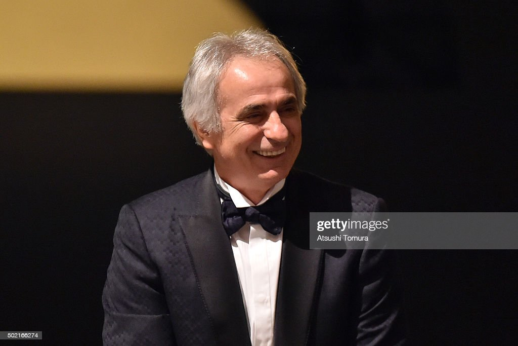 Japan national team head coach <a gi-track='captionPersonalityLinkClicked' href=/galleries/search?phrase=Vahid+Halilhodzic&family=editorial&specificpeople=777212 ng-click='$event.stopPropagation()'>Vahid Halilhodzic</a> attends the J. League Awards 2015 on December 21, 2015 in Tokyo, Japan.