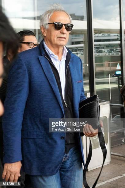 Japan national team head coach Vahid Halilhodzic is seen on arrival at Narita International Airport on September 22 2017 in Narita Chiba Japan