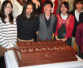 TOKYO Japan Nestle Japan Ltd unveils an 80kilogram KitKat chocolate bar made by a group of University of Tokyo students during a press event in Tokyo...