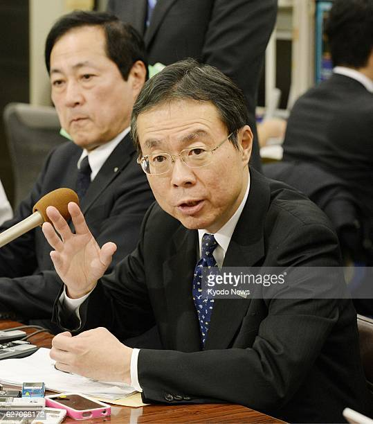 TOKYO Japan Nobuhide Hayashi deputy president of Mizuho Bank holds a press conference in Tokyo on Jan 23 after being named its next president Hayashi...