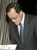 TOKYO Japan Olympus Corp President Shuichi Takayama apologizes over a scandal in which the company covered up investment losses in Tokyo on Nov 8 2011