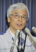 TOKYO Japan Outgoing Nuclear and Industrial Safety Agency chief Nobuaki Terasaka speaks during a press conference in Tokyo on Aug 10 2011 He said the...