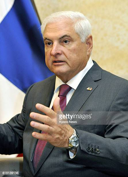 TOKYO Japan Panamanian President Ricardo Martinelli speaks during an interview in Tokyo on Oct 23 2012