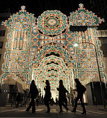 KOBE Japan People look at some of the ''Luminarie'' illuminations in Kobe Hyogo Prefecture in western Japan on the night of Nov 28 after they were...