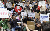 TOKYO Japan People take to the streets in Tokyo to protest against income disparity and corporate greed on Oct 15 2011 Movements inspired by the...