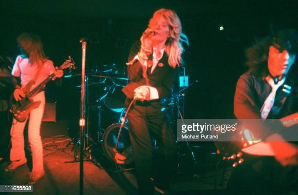 Japan perform on stage New York November 1978 LR Mick KarnDavid SylvianRob Dean