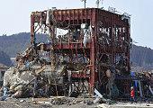 MINAMISANRIKU Japan Photo shows a severely damaged building of a disaster response office in Minamisanriku Miyagi Prefecture on March 13 two days...