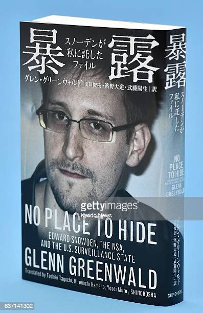 TOKYO Japan Photo shows the Japanese version of 'No Place to Hide Edward Snowden the NSA and the US Surveillance State' a book written by former...