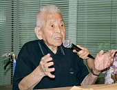 TOKYO Japan Photo shows the late Tsutomu Yamaguchi speaking in Nagasaki in June 2009 about his experience of surviving the 1945 atomic bombings of...
