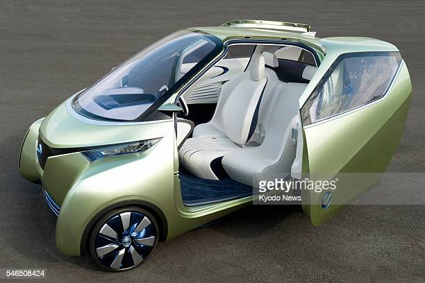 TOKYO Japan Photo shows the Nissan Pivo 3 a new concept electric vehicle unveiled by Nissan Motor Co on Nov 8 before its debut at the 2011 Tokyo...