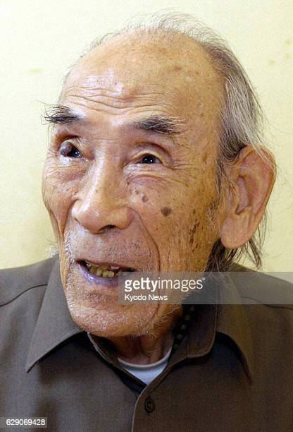 TOKYO Japan Photo taken in November 2005 shows Michio Mado a Japanese poet known for his nursery rhymes Mado died of old age at a Tokyo hospital on...