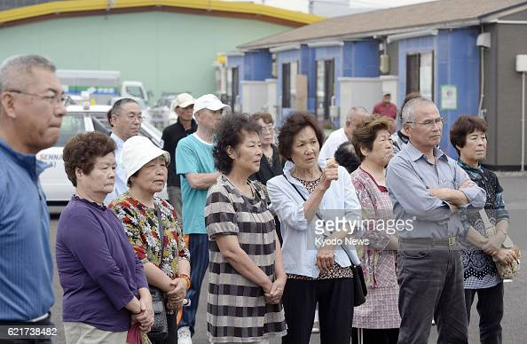 NATORI Japan Residents of temporary housing of the 2011 killer tsunami listen to a stump speech by a candidate in Natori Miyagi Prefecture on July 4...