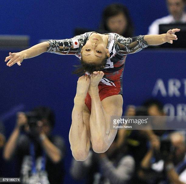 TOKYO Japan Rie Tanaka of Japan performs her balance beam routine in the women's allaround final at the world gymnastics championships in Tokyo on...