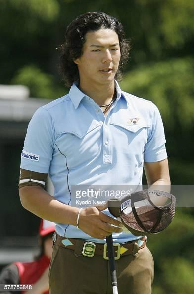 CHITOSE Japan Ryo Ishikawa is pictured during the first round of the Shigeo Nagashima Invitational Sega Sammy Cup at Hokkaido's North Country Golf...