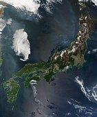 'Japan, satellite image'