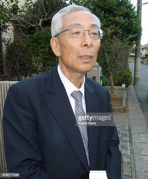 TOKYO Japan Satoru Nishibori a former president of Mizuho Bank answers reporters' questions in Kashiwa Chiba Prefecture on Oct 10 2013 Nishibori...
