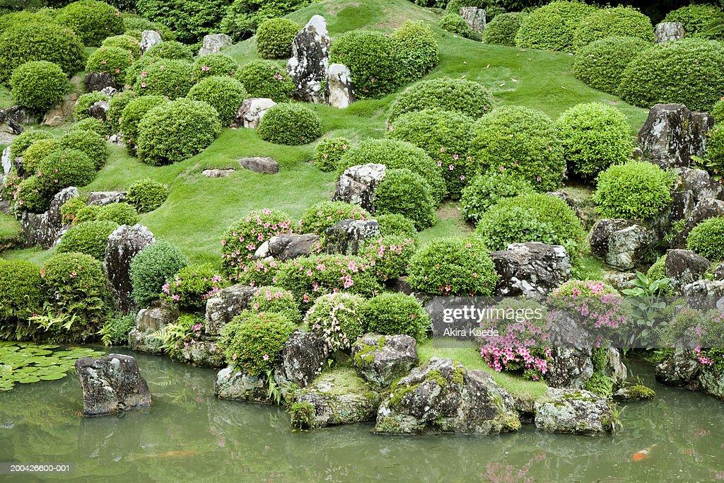 Japan, Shizuoka Prefecture, Inasa, Ryutanji Temple garden : Stock Photo