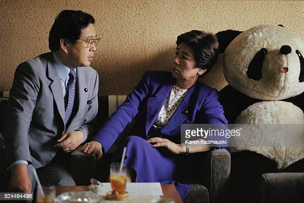 Japan Socialist Party Chairwoman Takako Doi