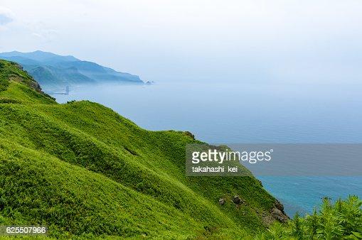 Japan Summer Cape Of Hokkaido North Blue Sea