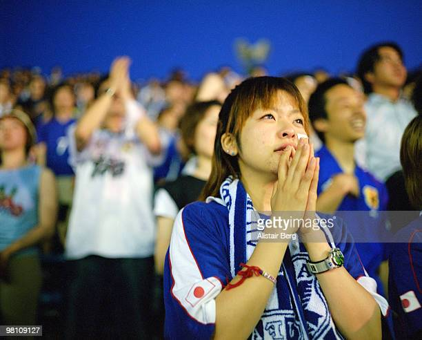 Japan supporter at World Cup soccer match
