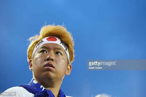 Japan supporter in the crowd watches on during the International Friendly Match between Japan and Costa Rica at Raymond James Stadium on June 2 2014...