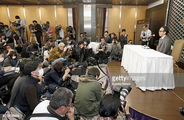 TOKYO Japan Takashi Niigaki a music lecturer holds a press conference at a Tokyo hotel on Feb 6 the day after confessing that he has worked as a...