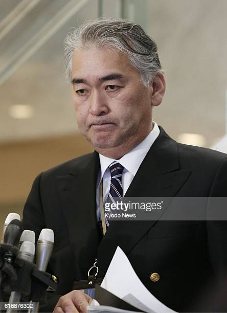 YOKOHAMA Japan Takeshi Endo public relations chief of Japanese engineering firm JGC Corp holds a press conference at the company's headquarters in...