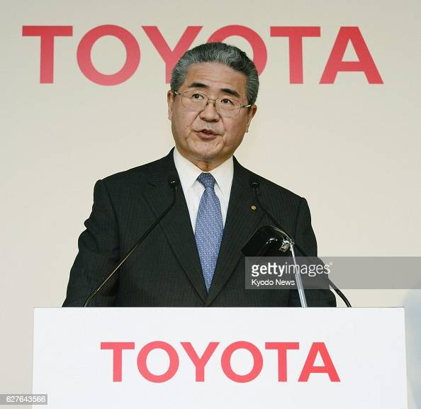 TOKYO Japan Takuo Sasaki managing officer of Toyota Motor Corp releases the company's latest earnings forecast at a press conference at the company's...