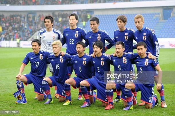 Japan Team Group Top Row Goalkeeper Shusaku Nishikawa Maya Yoshida Yasuyuki Konno Yuya Osako and Keisuke Honda Bottom Row Makoto Hasebe Hotaru...