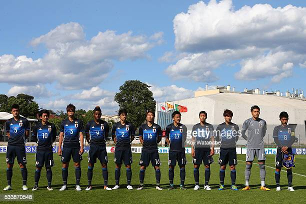 Japan team start line up of during the Toulon Tournament between Japan and Portugal on May 23 2016 in Aubagne France