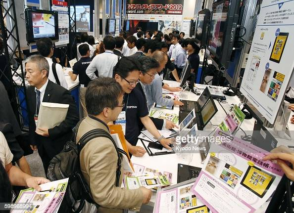 TOKYO Japan The 16th eBook Expo Tokyo one of the world's largest trade shows for electronic book technologies and services opens at Tokyo Big Sight...