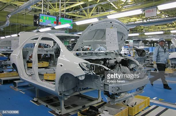 OHIRA Japan The assembly line is shown to reporters at a factory of Central Motor Co a Toyota Motor Corp subsidiary to build subcompact cars in the...