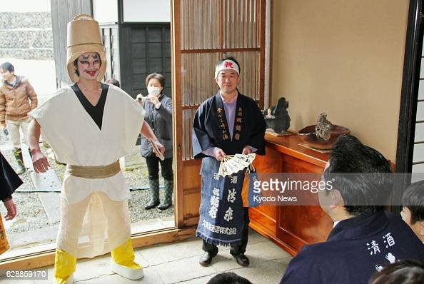 NIIGATA Japan The sake brewing tradition of 'koshikidaoshi' is held in Nagaoka Niigata Prefecture central Japan on Feb 22 for the first time in 17...