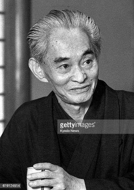 TOKYO Japan This 1966 file photo shows Nobel laureate Yasunari Kawabata Researcher Takumi Ishikawa said Feb 17 that a serialized novel titled...