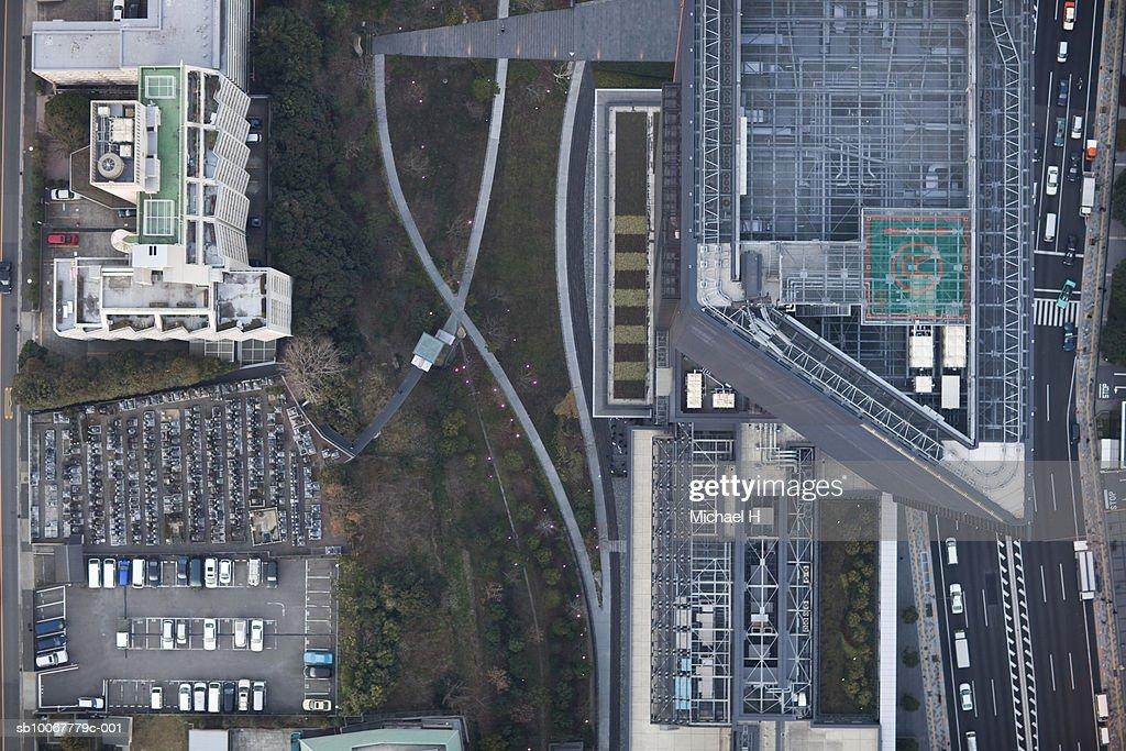 Japan, Tokyo, Aerial view of Shinagawa ward : Stock Photo