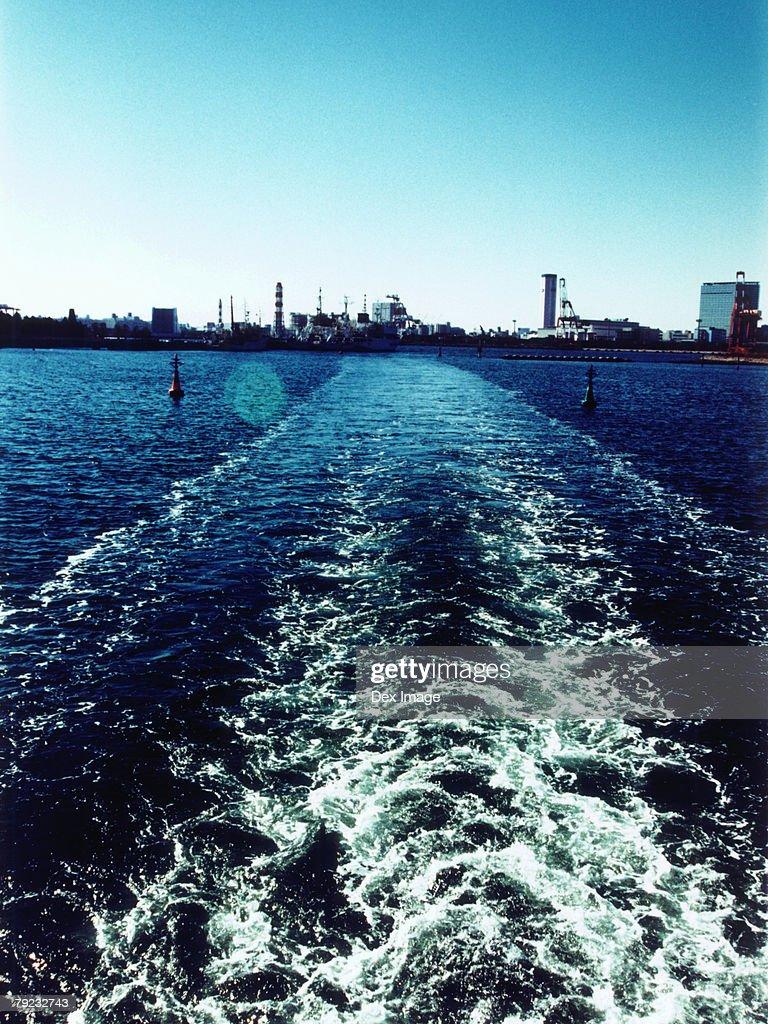 Japan, Tokyo Bay skyline : Stock Photo