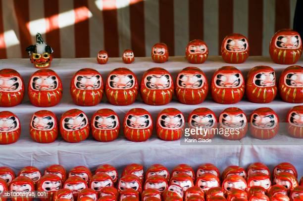 Japan, Tokyo, Daruma dolls, close-up