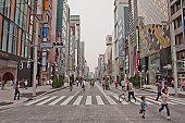 Japan Tokyo Ginza crosswalk