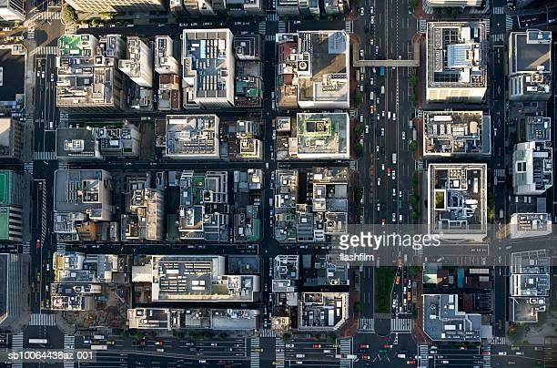 Japan, Tokyo, Kyobashi, aerial view