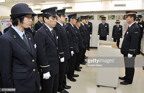 TOKYO Japan Tokyo Metro Co employees observe a moment of silence for the victims of the AUM Shinrikyo cult's 1995 sarin nerve gas attacks at Tokyo...