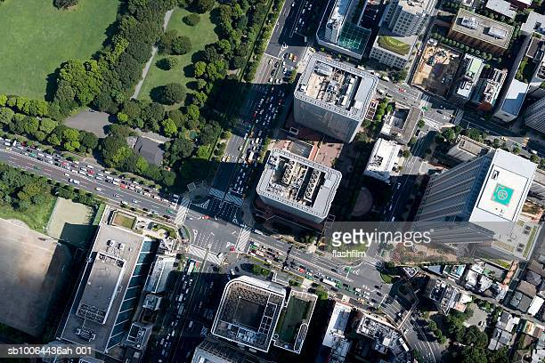 Japan, Tokyo, Minato-ku, Aoyama, aerial view