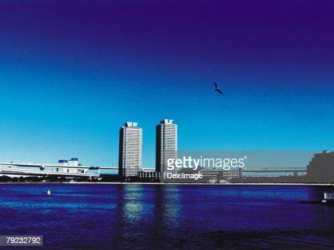 Japan, Tokyo, Minato-ku skyline : Stock Photo