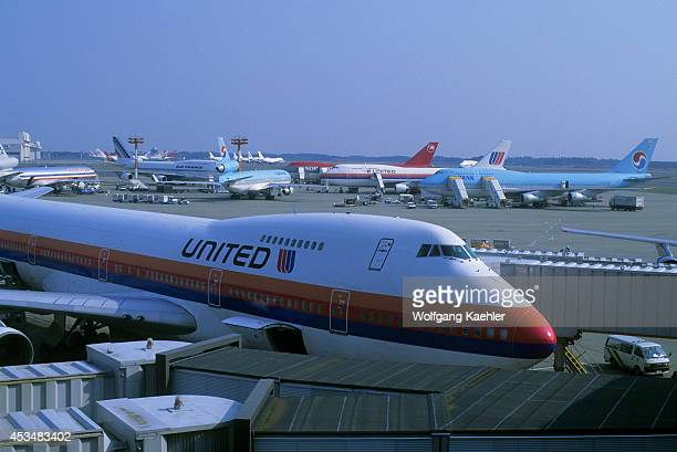 Japan Tokyo Narita Airport With Boeing 747 Airplanes