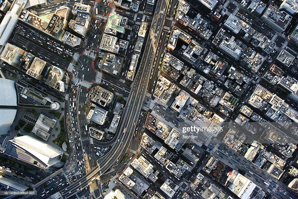 Japan, Tokyo, Shimbashi, aerial view : Stock Photo