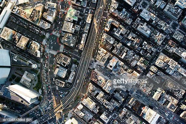 Japan, Tokyo, Shimbashi, aerial view