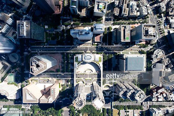 Japan, Tokyo, Shinjuku, Tokyo Metropolitan Government Building, aerial view