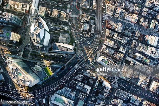 Japan, Tokyo, Shiodome, aerial view