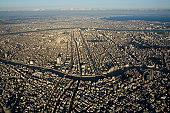 Japan, Tokyo, Sumida-ku, aerial view
